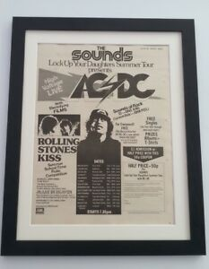 AC-DC-Summer-Tour-1976-ORIGINAL-POSTER-AD-FRAMED-FAST-WORLD-SHIP