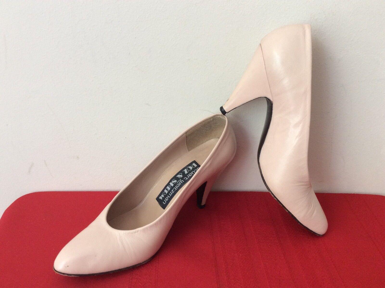 Stuart WEITZMAN Roz And Sherm 4.5M Basic Nude Pumps Sz 4.5M Sherm Shoes. (box 19) 7e36fa