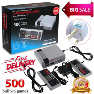 Details about Retro TV Game Classic NES Console 8 Bit With 500 Built in  Games UK Adapter