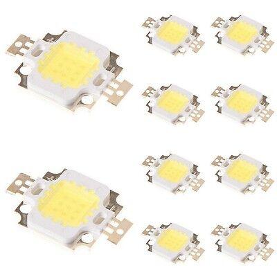 10pcs 10W Cool White High Power 800-900LM LED light Lamp SMD Chip DC 9-12V