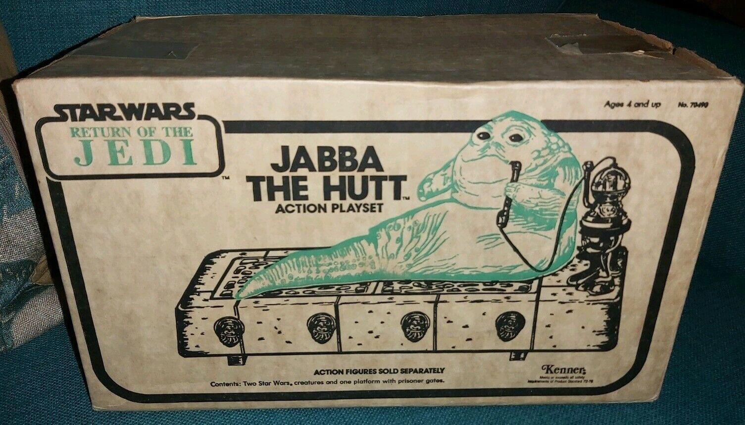 STAR WARS JABBA THE HUTT VINTAGE PLAYSET ULTRA RARE Weiß BOX VARIANT ROTJ