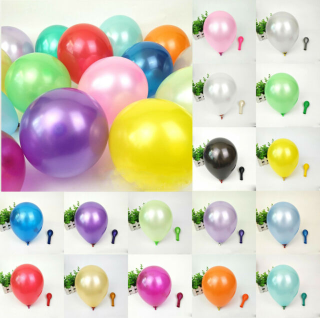 """100PC Pearl Latex Balloon 10/"""" Round Celebration Party Wedding Birthday Colorful"""