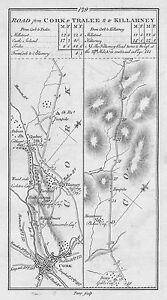 Blarney Ireland Map.1778 Ireland Cork Blarney Millstreet Kerry Castleisland Etc Antique
