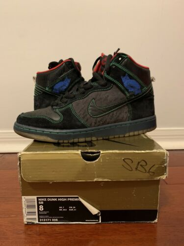 Nike Sb Dunk High Twin Peaks 313171-006 Mens Size