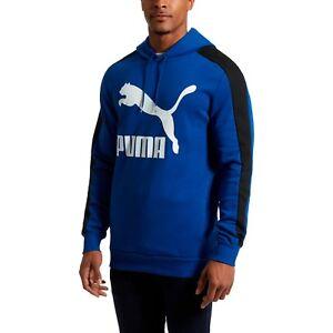 Details about PUMA Sodalite Blue Classics T7 Logo Hoodie FL