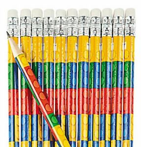 Pack-of-12-Brick-Block-Wooden-Pencils-with-Erasers-Party-Bag-Fillers