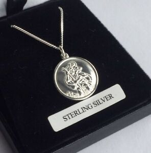 STERLING-SILVER-925-St-Christopher-NECKLACE-UK-SUPPLIER-Fast-And-Free-Delivery