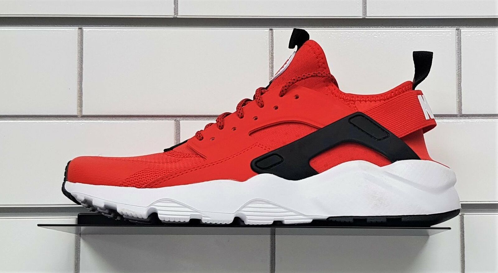 Nike Huarache Run Ultra Sneakers, Hanablack Red   White