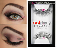 Lot 3 Pairs Authentic Red Cherry 217 Trace Human Hair False Eyelashes Lashes