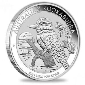 1 Kilo Silber Kookaburra 2019 - Australien 1 kg Silbermünze in Münzkapsel