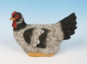 Vintage Bisque Hen Figure Porcelain Figurine Not On Nest Wyandotte Chicken Bird