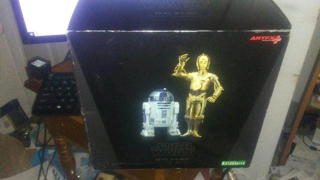 Kotobukiya Estrella Wars R2-D2 & C-3PO 1 10 Scale Artfx Modelo Kit Nuevo En Caja