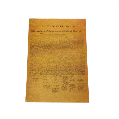 the united states declaration of independence retro poster wall sticker HI