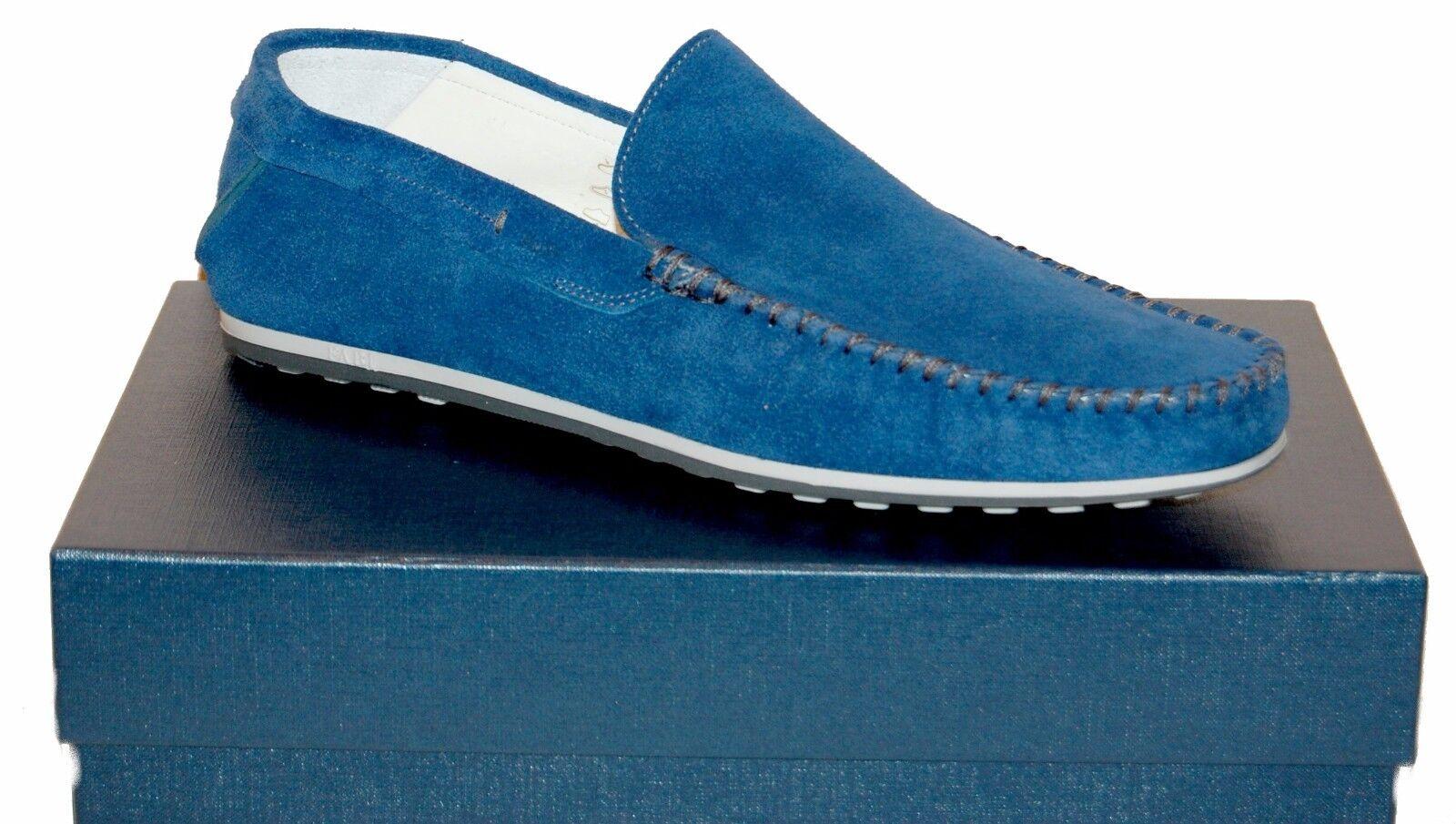 Fabi Men bluee Suede Loafer  Driving  shoes Moccasins Sz US 12 EU 45