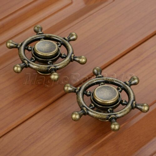 1pc Gyro Style Kitchen Drawer Cabinet Knob Furniture Door Pull Handle Rotatable