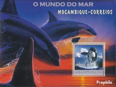 Never Hinged 2002 World Of Marine Elegant And Graceful Animal Kingdom Honesty Mozambique Block188 Unmounted Mint