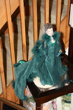 """Gone With the Wind ~ 16"""" SCARLETT O'HARA DOLL IN GREEN SHAME GOWN~ BY: TONNER"""