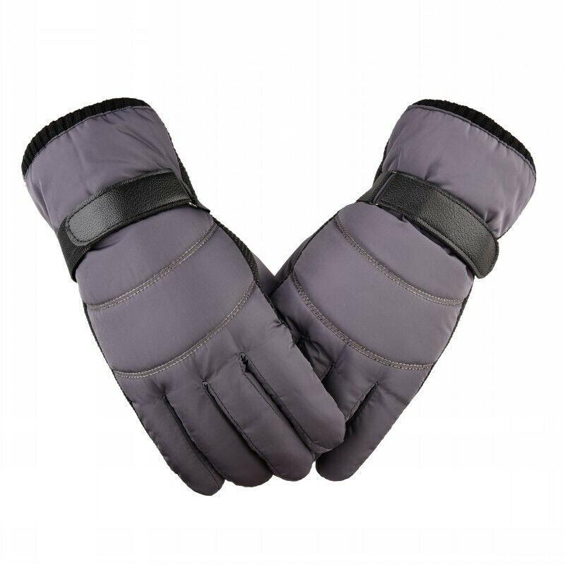 1 Pair Of Men's Waterproof Ski Gloves Warm Gloves Windproof And Waterproof