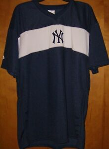 new arrivals 93777 c80d0 Details about Vintage New York Yankees Majestic Pullover Jersey Men's Size  Large Blue/White