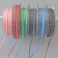 Baker's Twine Ribbon, Thick Cord Twisted Ribbon, 1,3 or 5  metres, 3mm wide