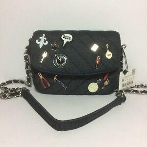 NWT-Zara-Quilted-Mini-Bag-Shoulder-Bag-Crossbody-with-Charms