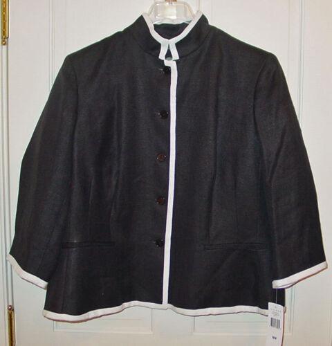 Ralph med Ny Størrelse Jacket 882909782535 Blazer Womans Lauren Black 16w Tags Linen qfzArTFxq