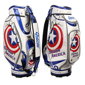 Details About Guiote Usa Golf Staff Bag Captain America Cad Cart Comes With Rainhood