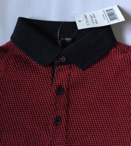 Ragazzi Nero E Rosso Polo