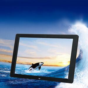 Black-10-2-034-HD-Slim-Digital-Photo-Movies-Frame-MP4-Player-Alarm-Clock-with-Remote