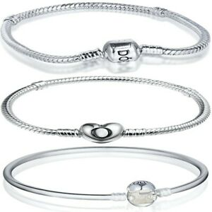 Classical-Silver-Bracelet-Bangle-Snake-Chain-FOR-European-silver-Charm-Bead