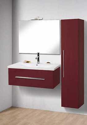 MOBILE da Bagno IN 25 COLORI per ARREDO MODERNO lavabo CERAMICA SPECCHIO + LUCE