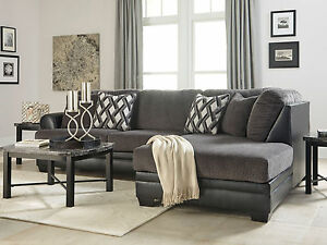 Details About New Modern Sectional Living Room Couch Set Gray Microfiber Sofa Chaise Ig19