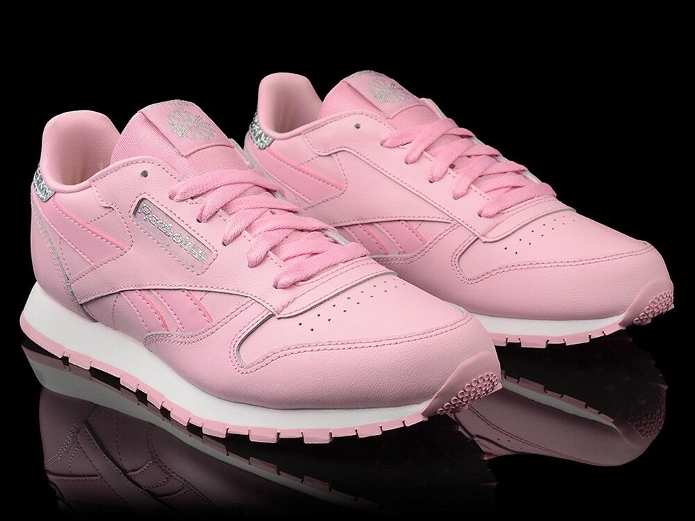 Reebok Classic Leather Girls Women`s Pastel Trainers Shoe Charming Pink BS8972