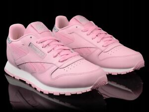 dfe3aab5a076 Image is loading Reebok-Classic-Leather-Girls-Women-s-Pastel-Trainers-