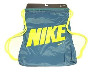 Nike Logo Draw String Bag Gym Bag Gym-sack BZ9756-477 886691253297 ... c43971dc250d