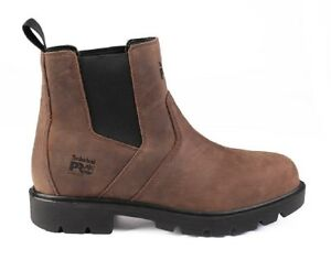 Details about Mens Timberland M1097 Pro Sawhorse Dealer Brown Leather Safety Boots