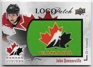 16-17-UD-TEAM-CANADA-JUNIORS-MANUFACTURED-PATCH-GREEN-John-Quenneville-1-5700-pk
