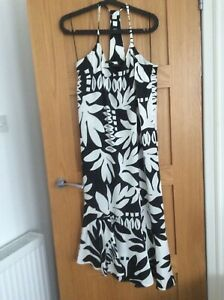 M-amp-S-Black-amp-White-Sleeveless-Dress-size-10-NEW-WITH-TAGS