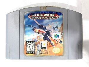 **Star Wars Rogue Squadron NINTENDO 64 N64 Game - Tested - Working - Authentic!