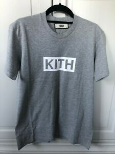 d2bb3231 Image is loading Kith-Classic-Logo-Tee-Heather-Grey-SMALL-DEADSTOCK