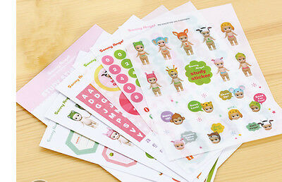 6 sheets Sonny Angel Doll Scrapbooking Diary Planner Paper Deco label Stickers