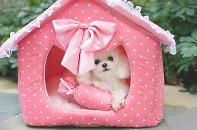 New Prince & Princess Cozy Soft Warm Pet House For Small-Medium Dog Puppy Cat