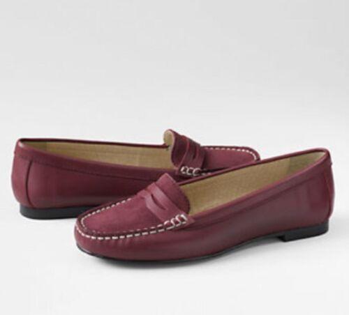 Lands/' End Kate Penny Loafer Moc Shoes Women/'s 5.5 NIB $50