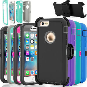 For-Apple-iPhone-6-amp-6S-Case-Cover-Defender-with-Belt-Clip-Fits-Otterbox-Series