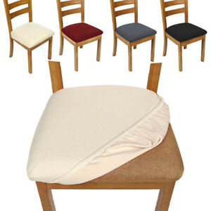 Stretch Dining Chair Seat Covers Removable Seat Cushion Slipcovers Protector UK