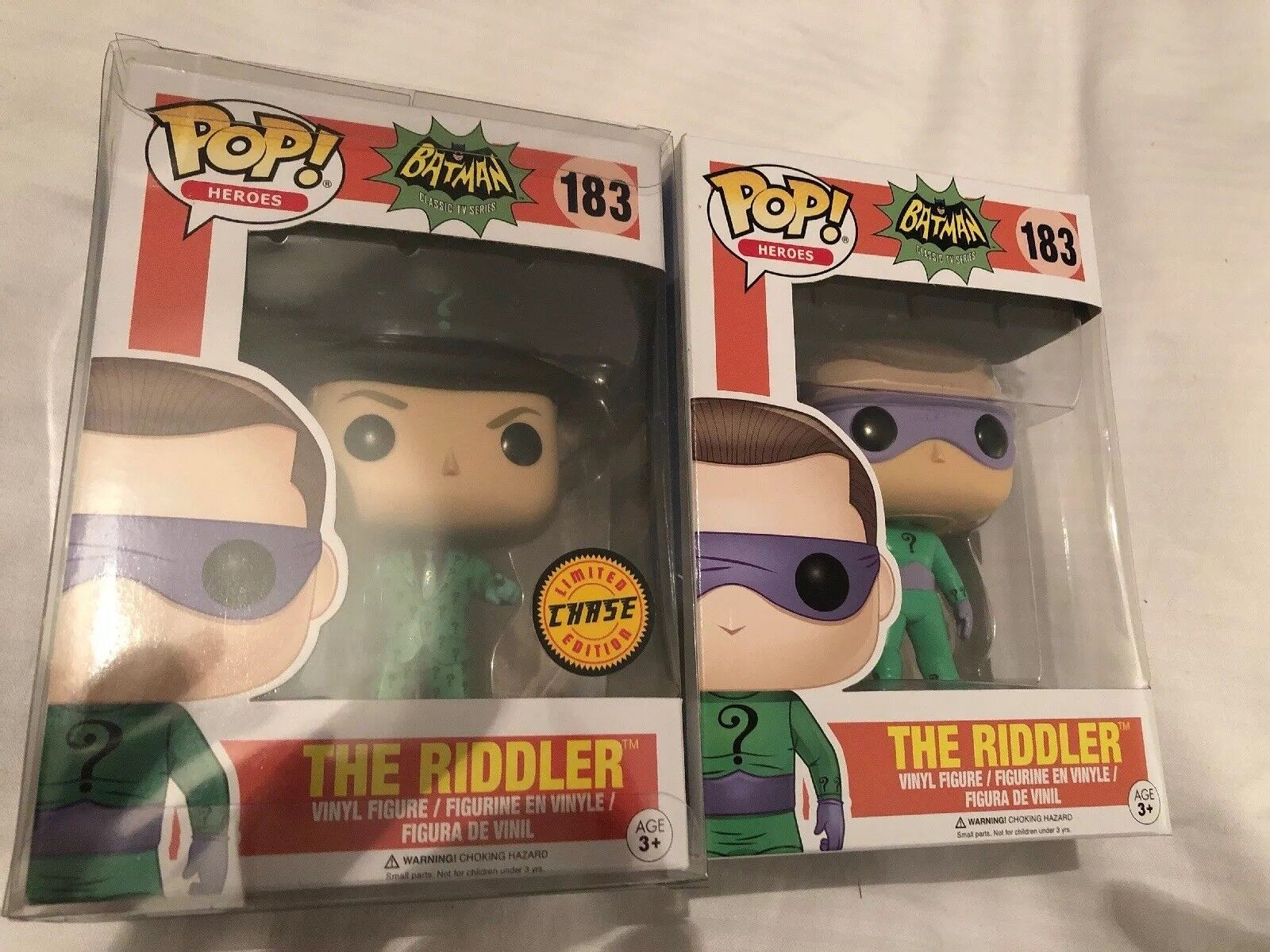 THE RIDDLER CHASE LIMITED EDITION FUNKO POP & STANDARD BATMAN CLASSIC TV RARE