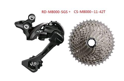 SHIMANO XT 11SPD M8000 GROUP SET CASSETTE CS-M800 REAR DERAILLEUR RD-M8000 W