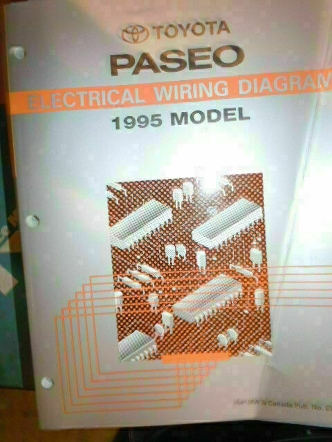 1995 Toyota Paseo Electrical Wiring Diagram Service Manual