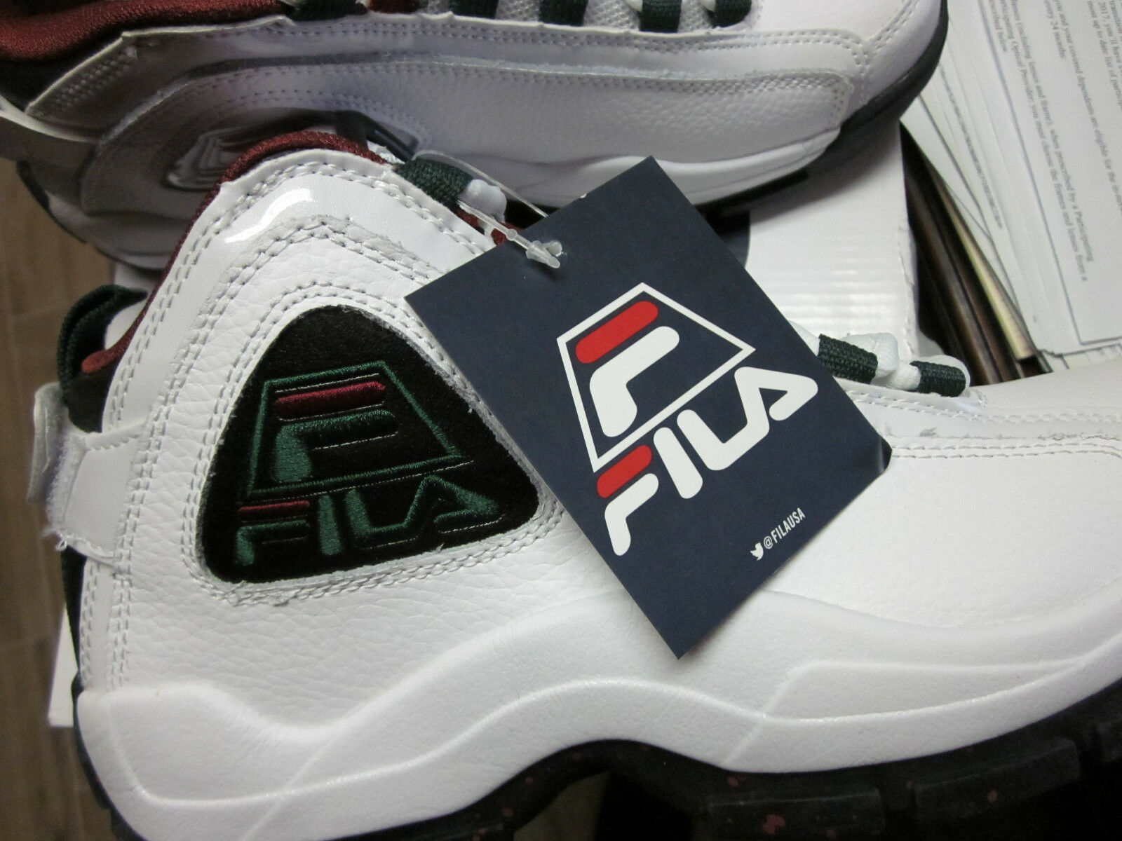 dividir aceptar seco  NEW FILA 96 GRANT HILL RETRO LEATHER MENS BASKETBALL SNEAKERS SIZE 9 for  sale online
