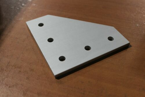 8020 T Slot Aluminum 5 Hole Joining Plate 15 Series 4351 ANO D2-02
